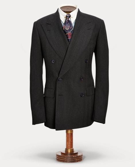 Wool Herringbone Suit Jacket