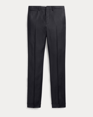 Slim Pinstripe Wool Trouser