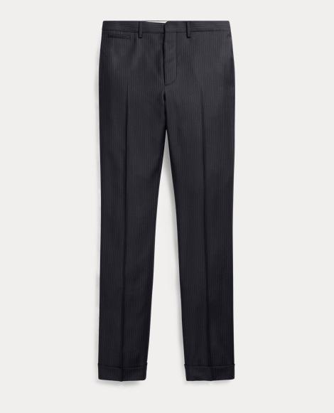 Slim Pinstripe Wool Trouser