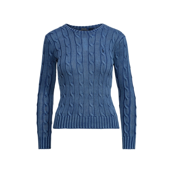 Ralph Lauren Cable-Knit Cotton Sweater Indigo Xs