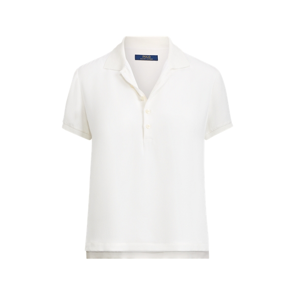 Ralph Lauren Silk Polo Shirt White Xs