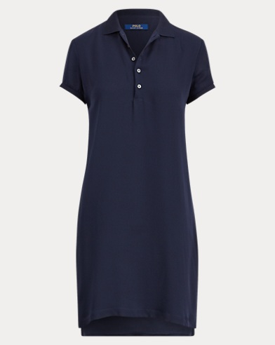 Silk Georgette Polo Dress
