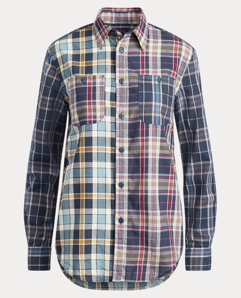 Relaxed Cotton Madras Shirt