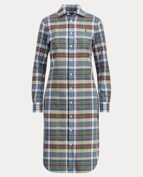 Cotton Madras Shirtdress