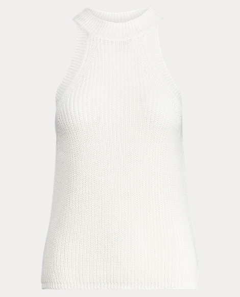 Sleeveless Linen Sweater