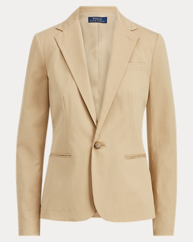 Stretch Cotton Twill Blazer