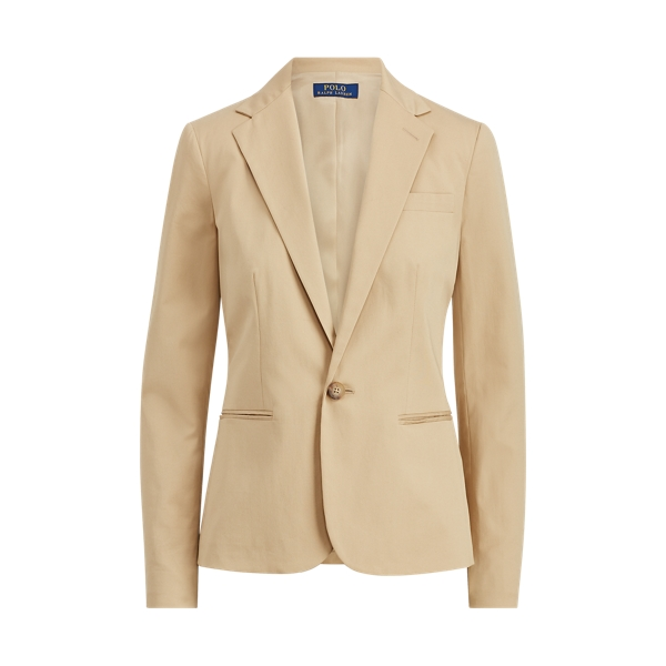 Ralph Lauren Stretch Cotton Twill Blazer Tan 2
