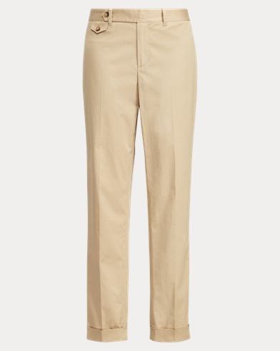 Cotton Straight-Leg Pant