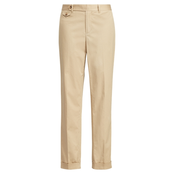 Ralph Lauren Cotton Straight-Leg Pant Tan 2