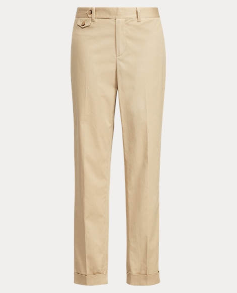 Cotton Straight-Leg Pant