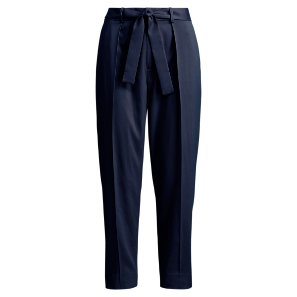 Ralph Lauren Twill High-Rise Pant Navy 4