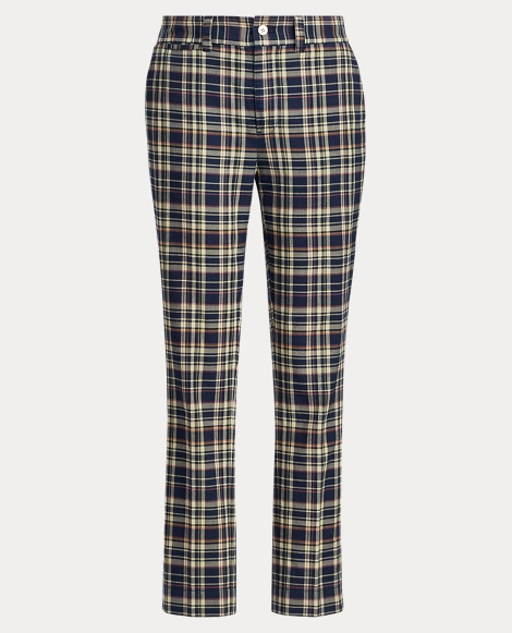 Cotton Madras Straight Pant