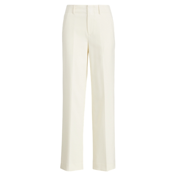 Ralph Lauren Wool Crepe Straight Pant Cream 2