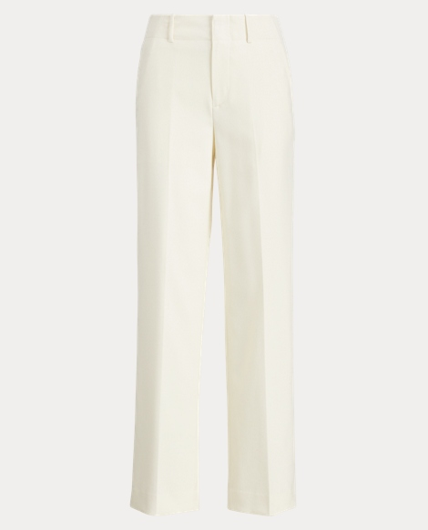 Wool Crepe Straight Pant