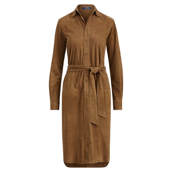 Ralph Lauren Suede Shirtdress Brown 2