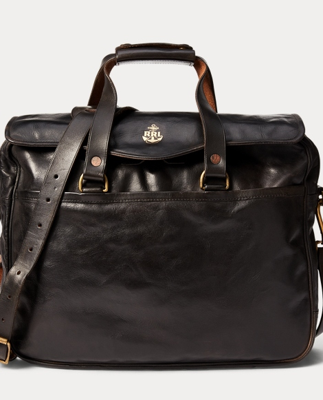 Tumbled Leather Briefcase
