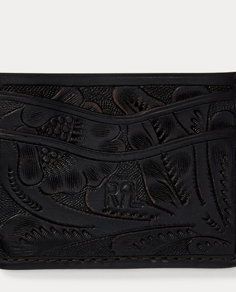 Hand-Tooled Leather Card Case