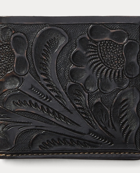 Hand-Tooled Leather Billfold