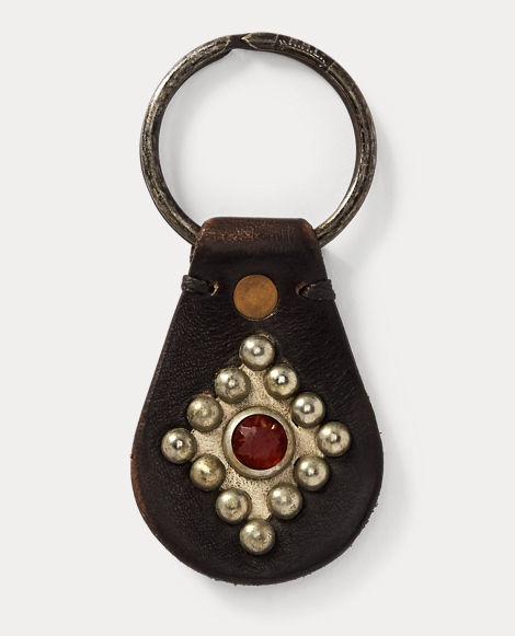 Studded Leather Key Fob