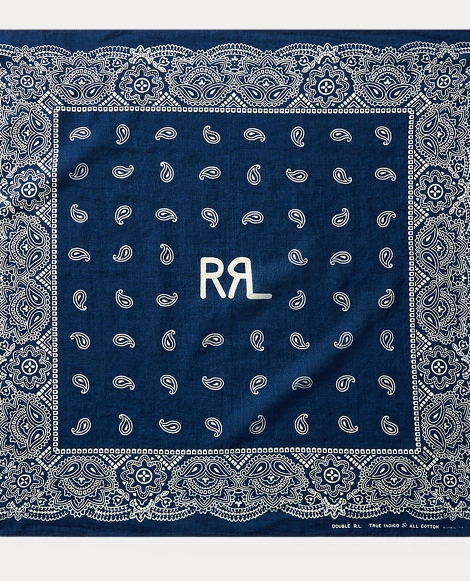 Paisley-Print Cotton Bandanna