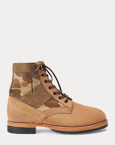 Camo Canvas-Suede Boot
