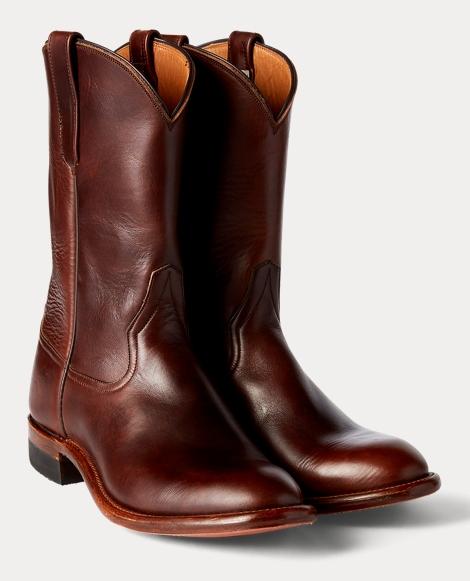 Leather Dress Roper Boot
