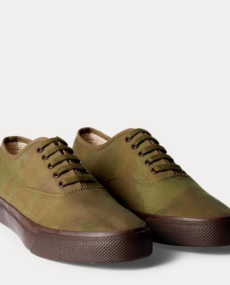 Camo-Print Canvas Sneaker