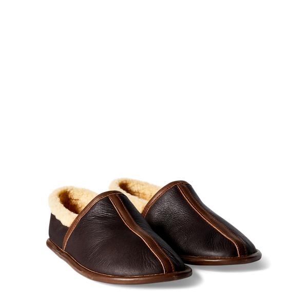 Ralph Lauren Shearling Camp Shoe Dark Brown 9