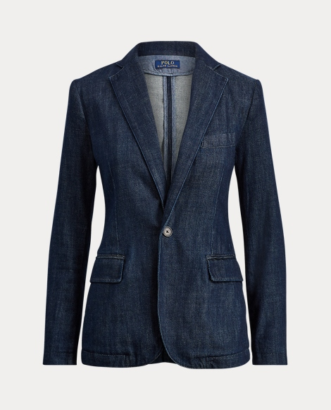 Single-Button Denim Blazer