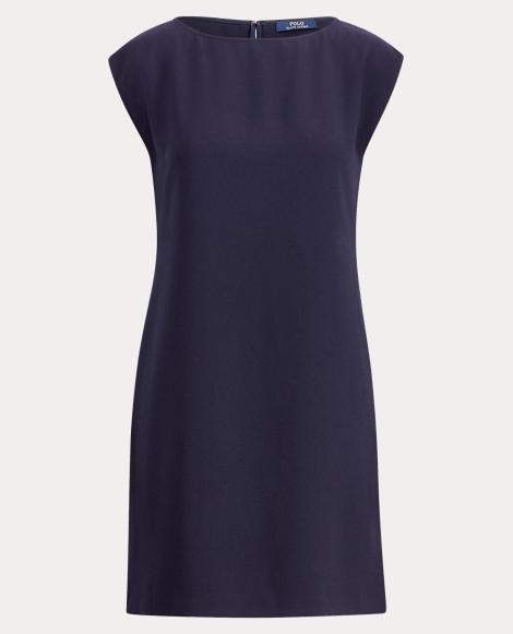 Crepe Cap-Sleeve Dress