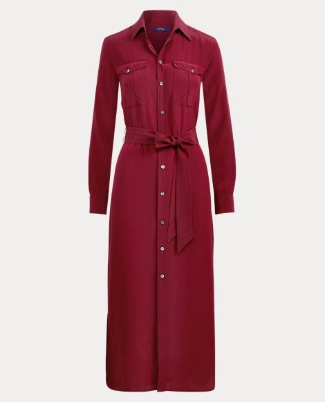 Silk Crepe Shirtdress