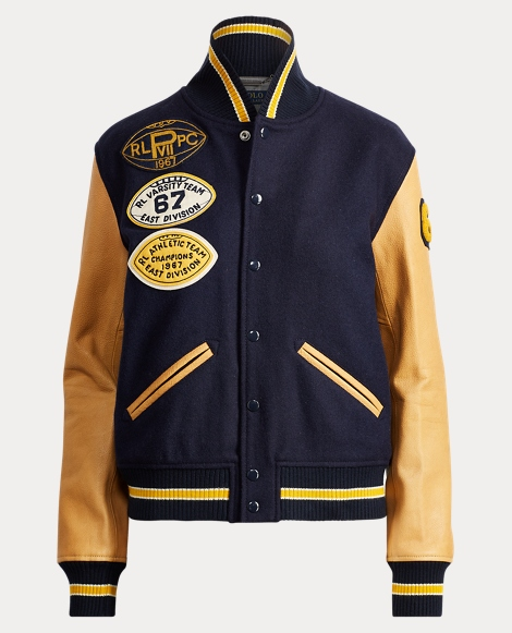 Collegiate Wool Bomber Jacket