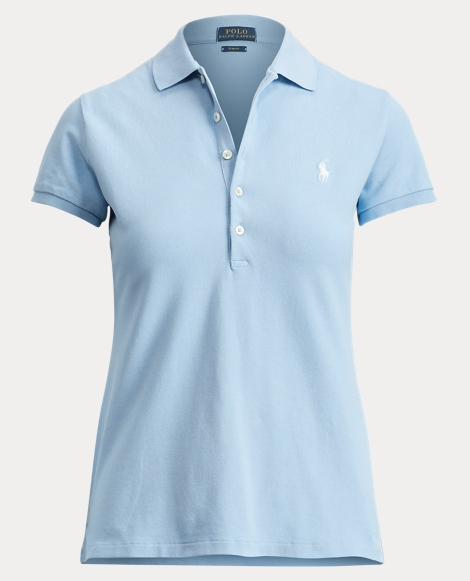 Skinny Stretch Mesh Polo
