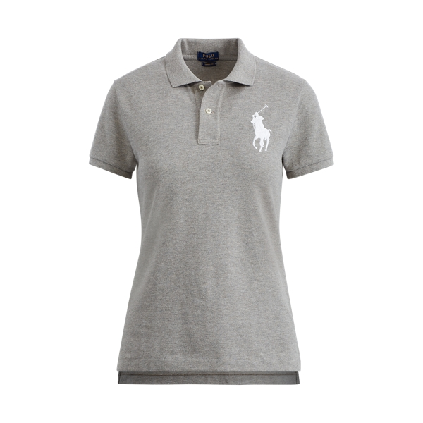 Ralph Lauren Skinny Fit Big Pony Polo Heather Xs