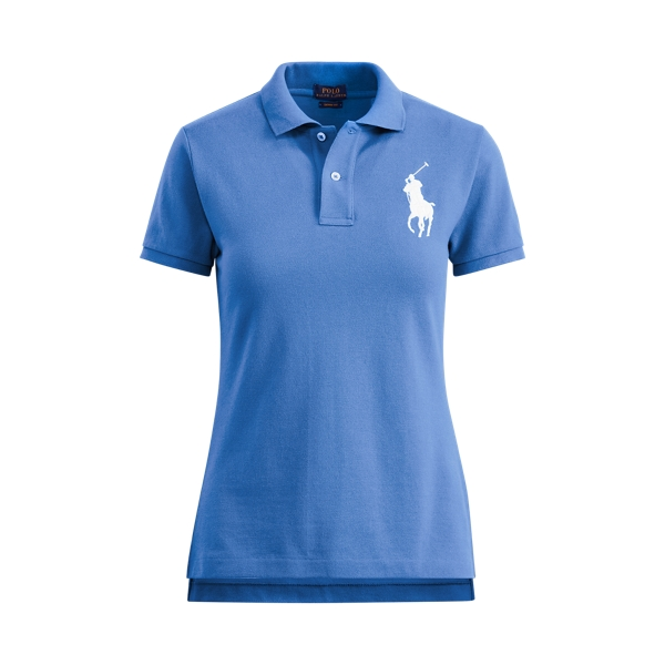 Ralph Lauren Skinny Fit Big Pony Polo Blue S
