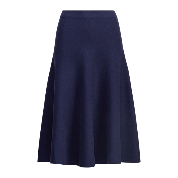 Ralph Lauren Knit A-Line Skirt Navy Xs