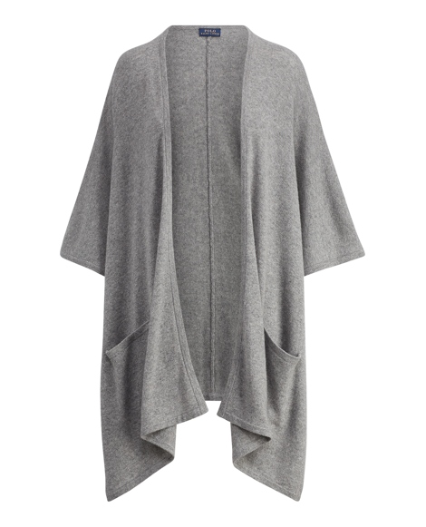 Cashmere Open-Front Cardigan
