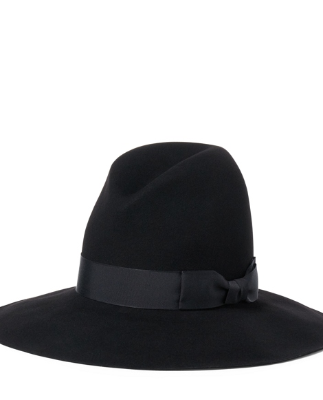 Wool Felt Wide-Brim Hat