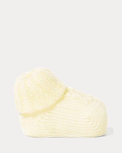 Cable-Knit Cotton Booties