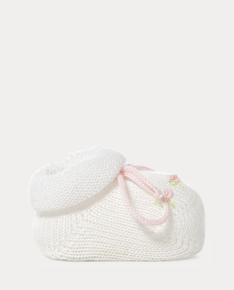 Rosette Cotton-Blend Booties