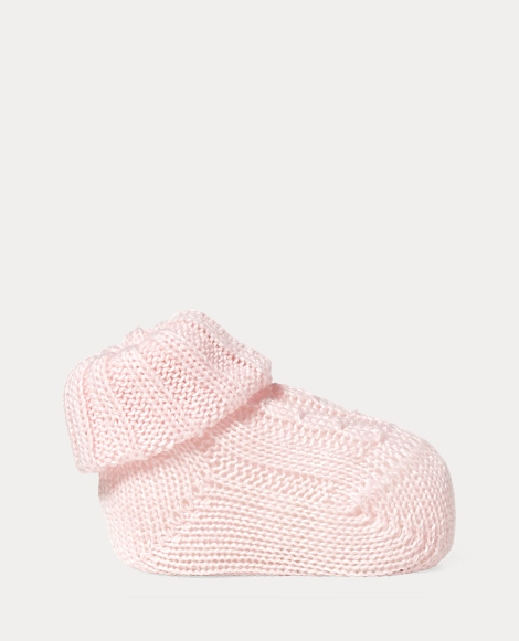Cable-Knit Cotton-Blend Bootie