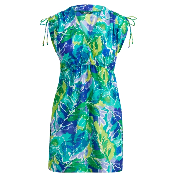 Ralph Lauren Tropical-Print Cover-Up Blue Multi L