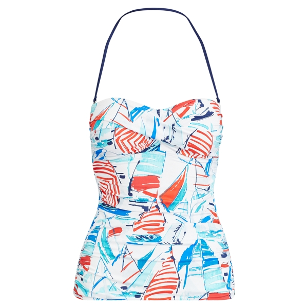 Ralph Lauren Sailboat-Print Tubini Top Multi 8