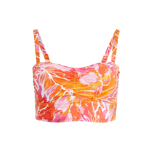 Ralph Lauren Tropical-Print Bikini Top Orange Multi 16