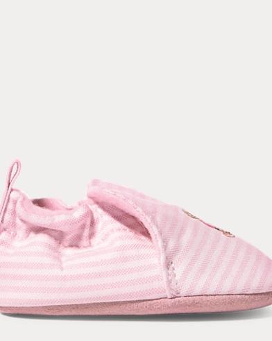 Percie Striped Canvas Slipper