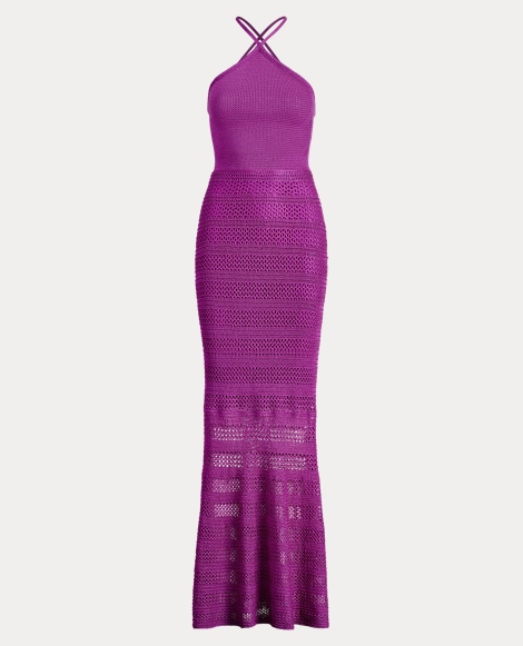 Knit Silk Column Gown