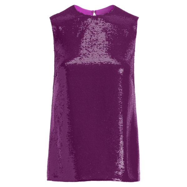 Ralph Lauren Alandra Sequined Silk Top Amethyst 10