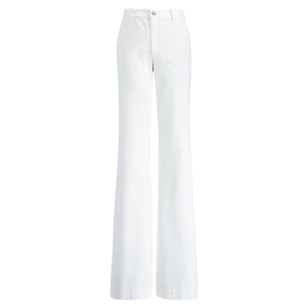 Ralph Lauren Barton Wide-Leg Jean Off White 2