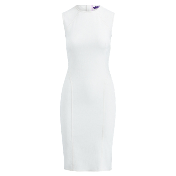 Ralph Lauren Claudine Denim Dress Off White 10