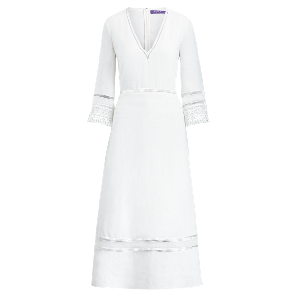 Ralph Lauren Francesca Linen Dress Off White 4